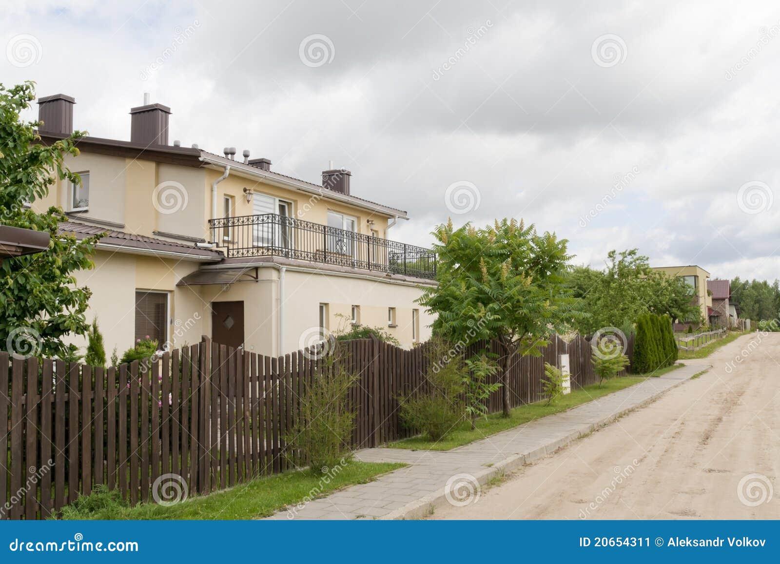 Rural Street Stock Image - Image: 20654311