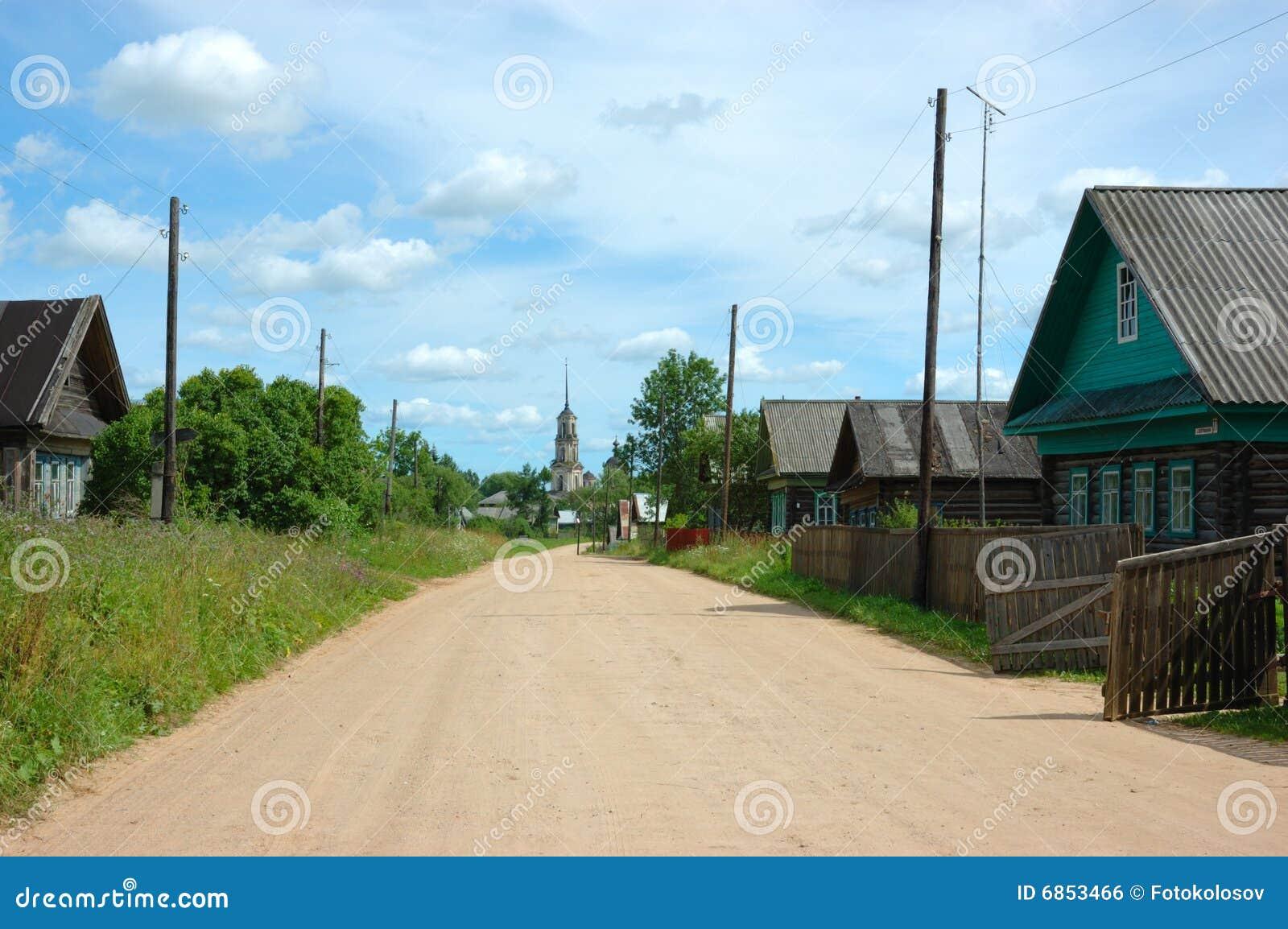 Rural street stock photo. Image of green, scene, orthodox ...