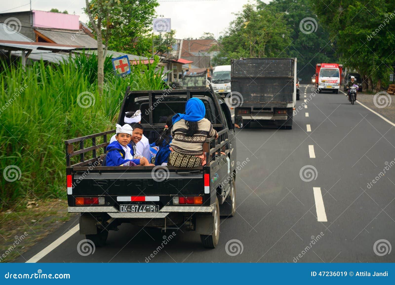 Rural Transport Bali Indonesia Editorial Stock Image Of Tour