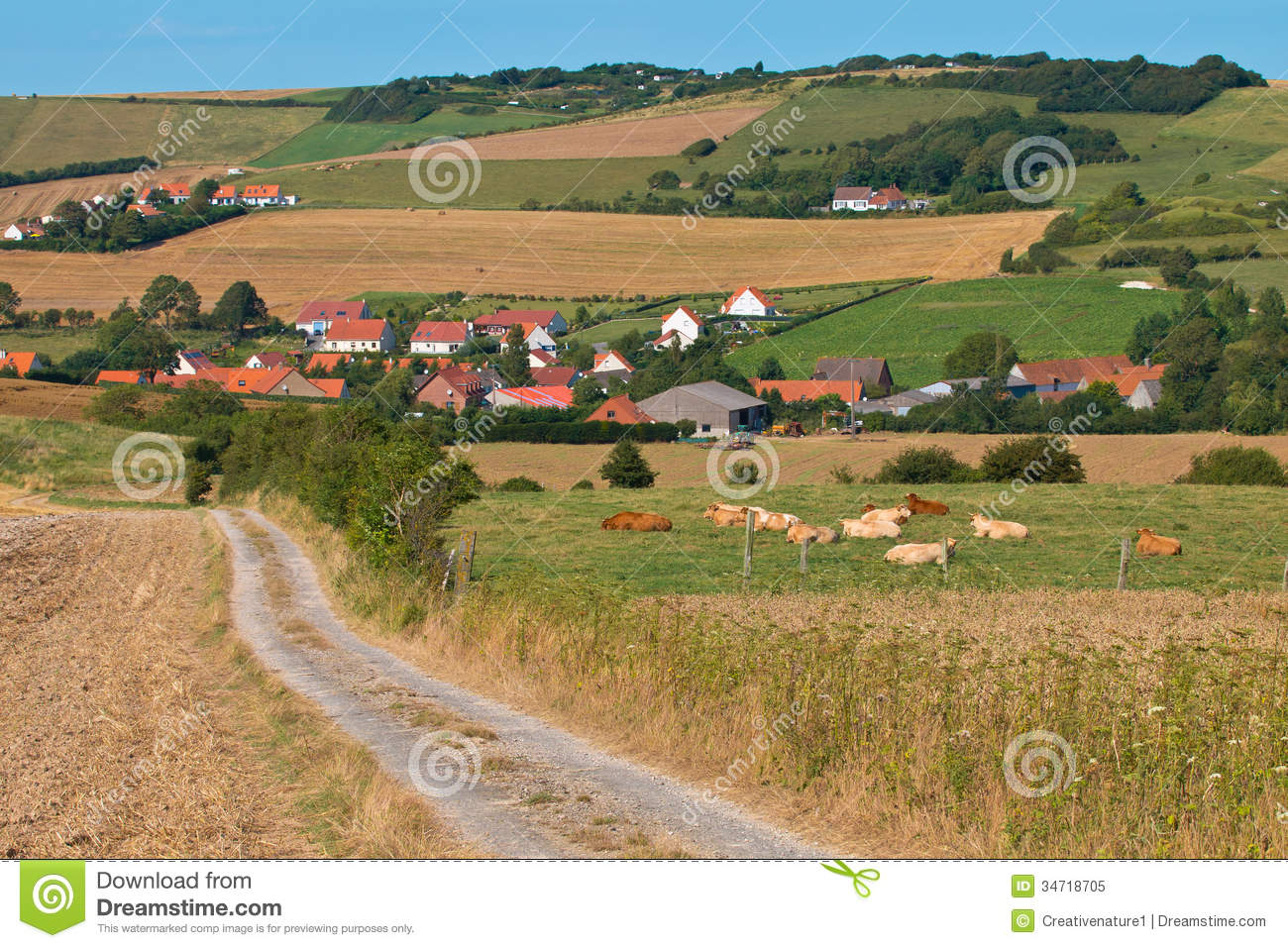 Rural Village In France Royalty Free Stock Photo - Image: 34718705