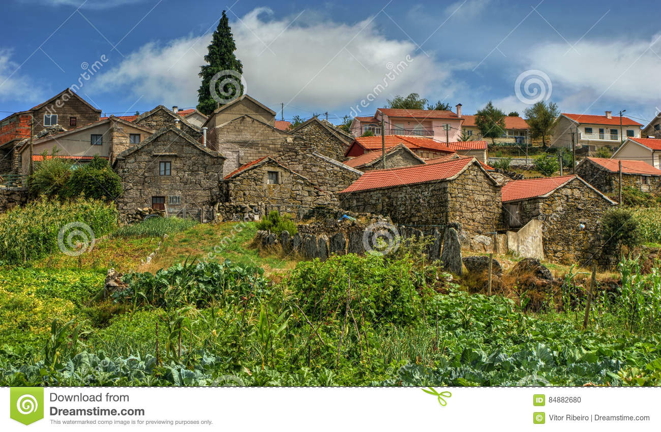 Rural village of Lamas de Olo in Vila Real