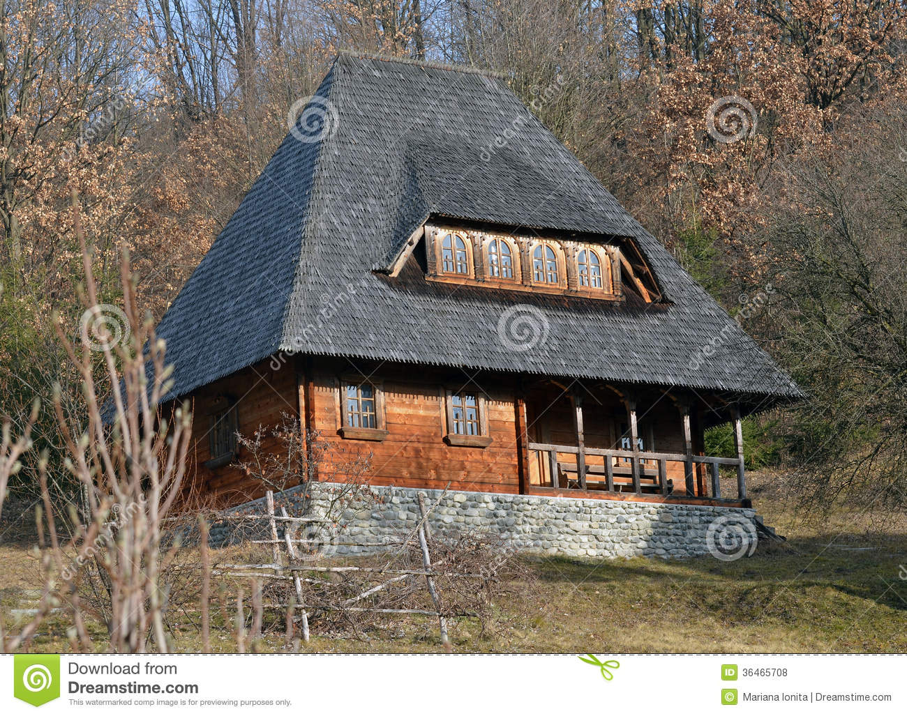 Rural Wooden Old House In Maramures Royalty Free Stock Photos Image 36465708