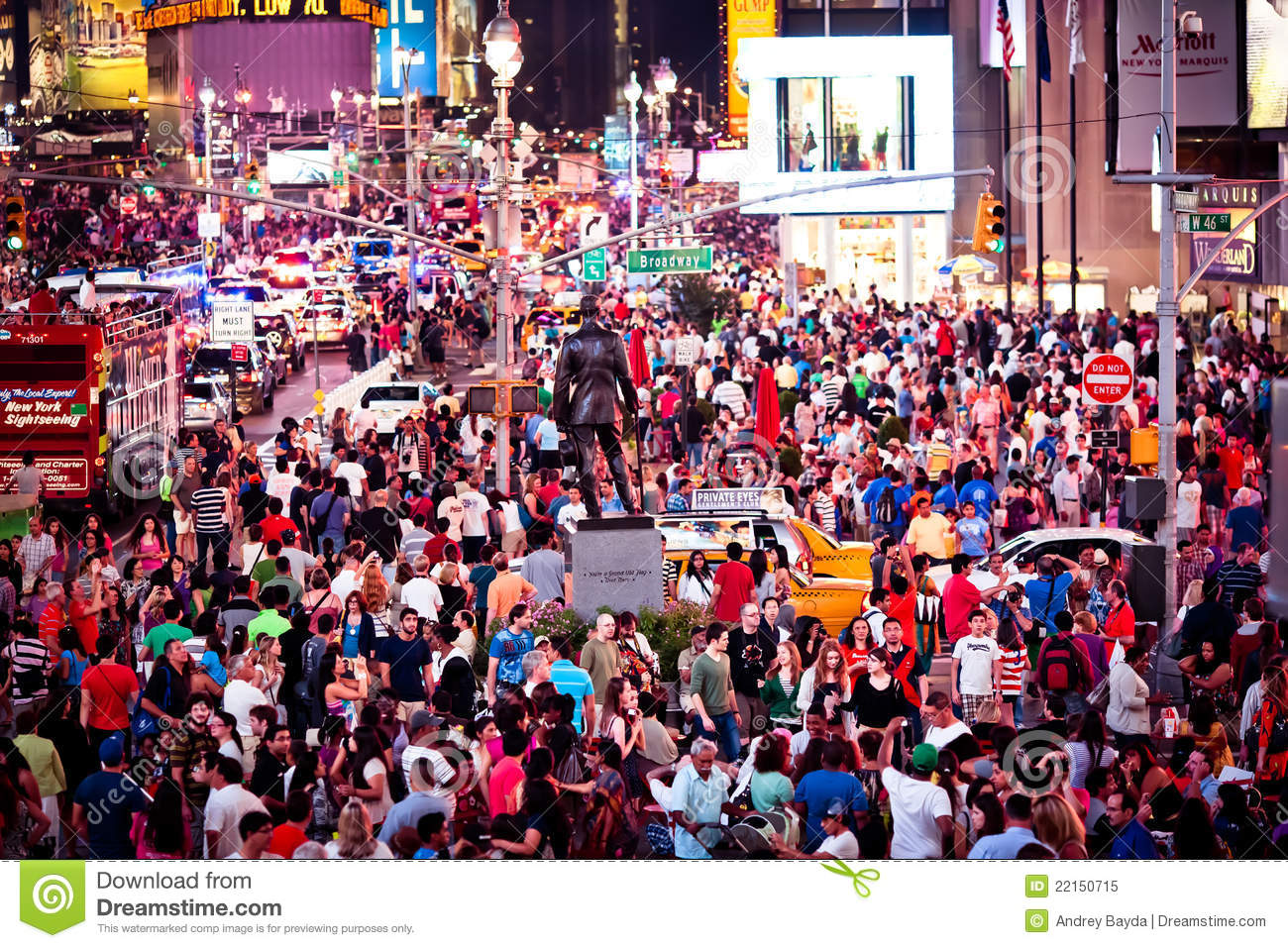 Rush hour at Times Square