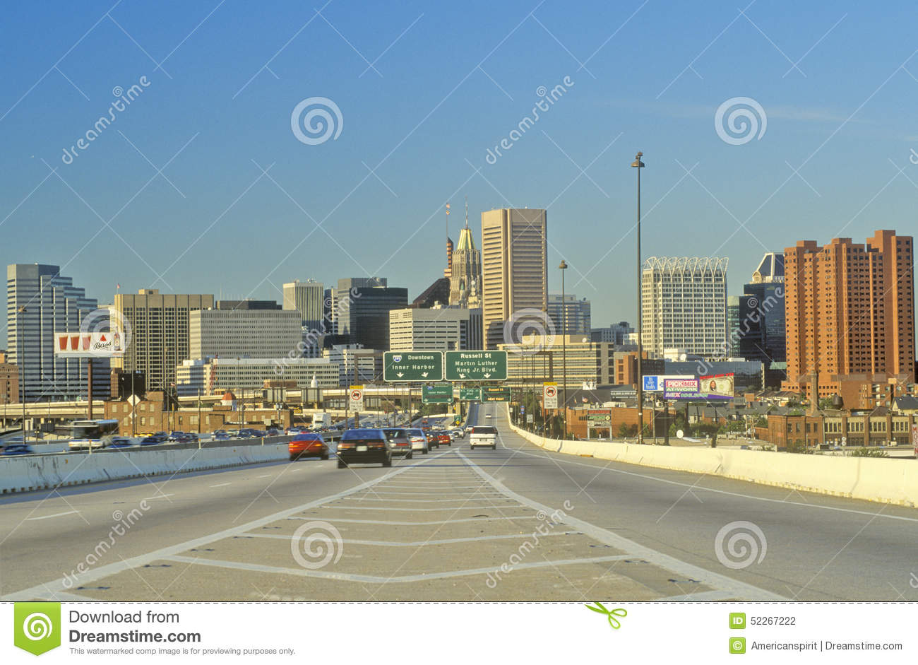 Rush Hour Traffic, Baltimore, Maryland Editorial Photography