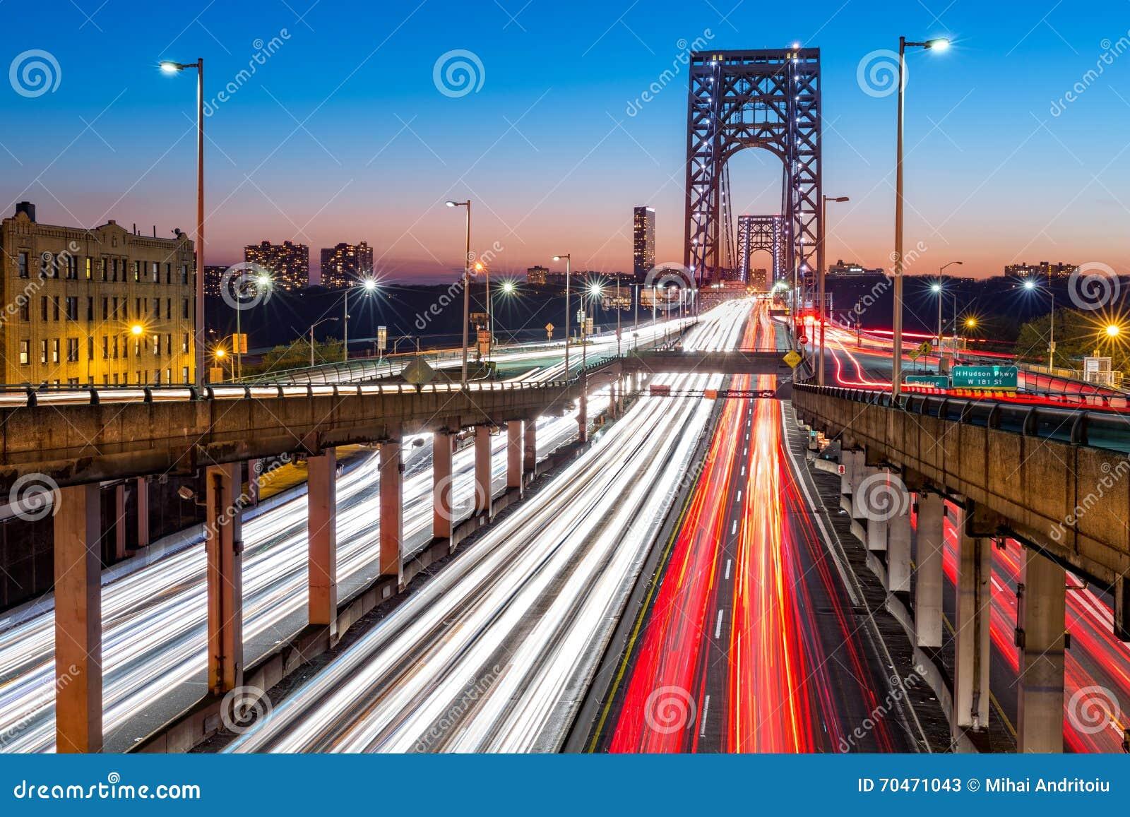 Rush hour traffic on George Washington Bridge