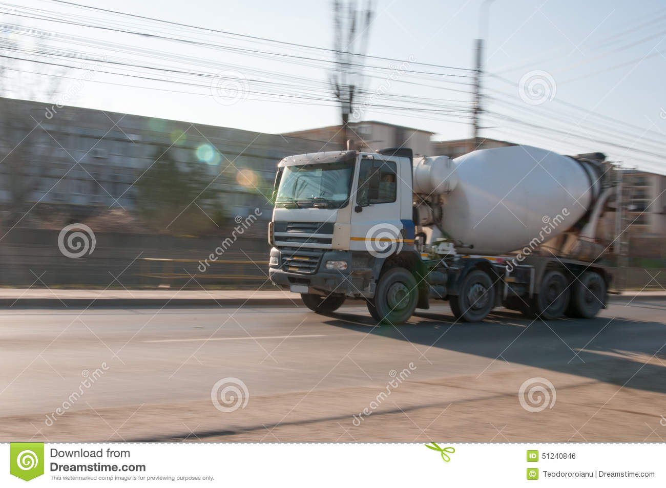 Download Rushing cement truck stock photo. Image of speeding, lorry - 51240846
