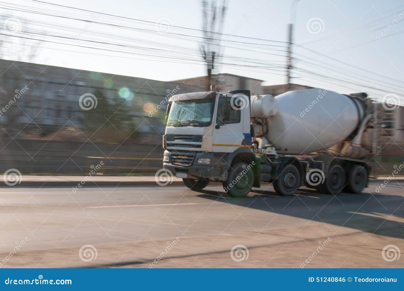 Rushing cement truck