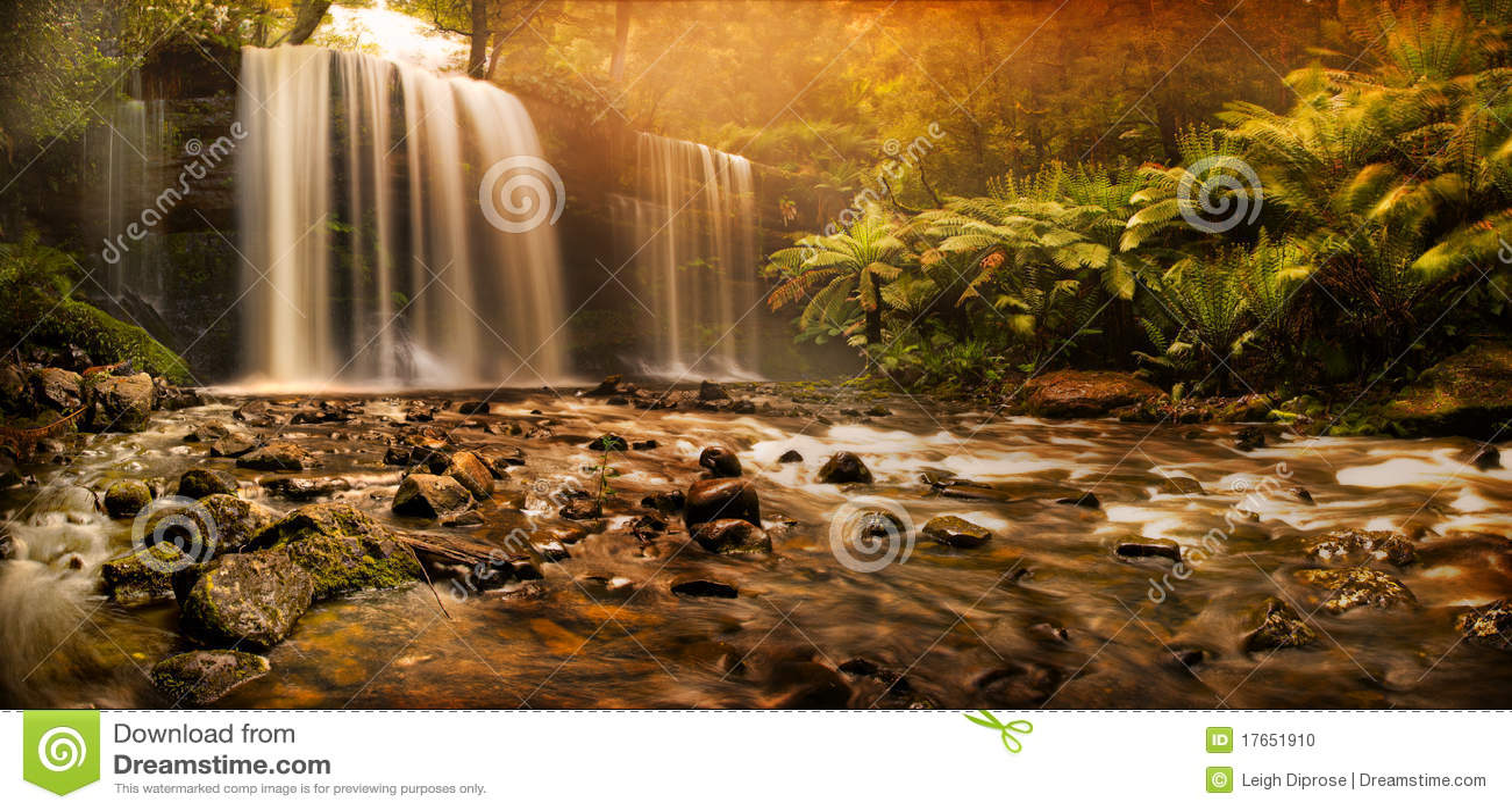 Russell Falls waterfall
