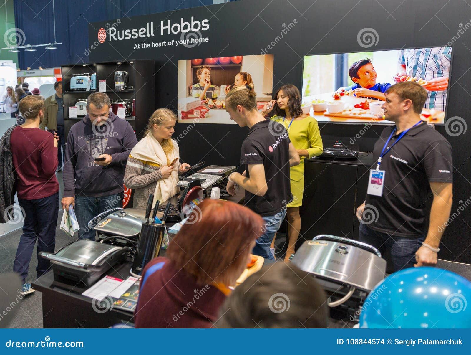 Russell Hobbs bås under CEE 2017 i Kiev, Ukraina