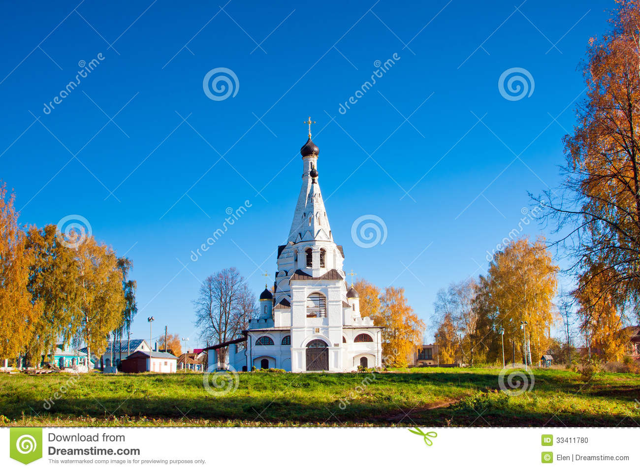 Russia, church in Krasnoe na Volge