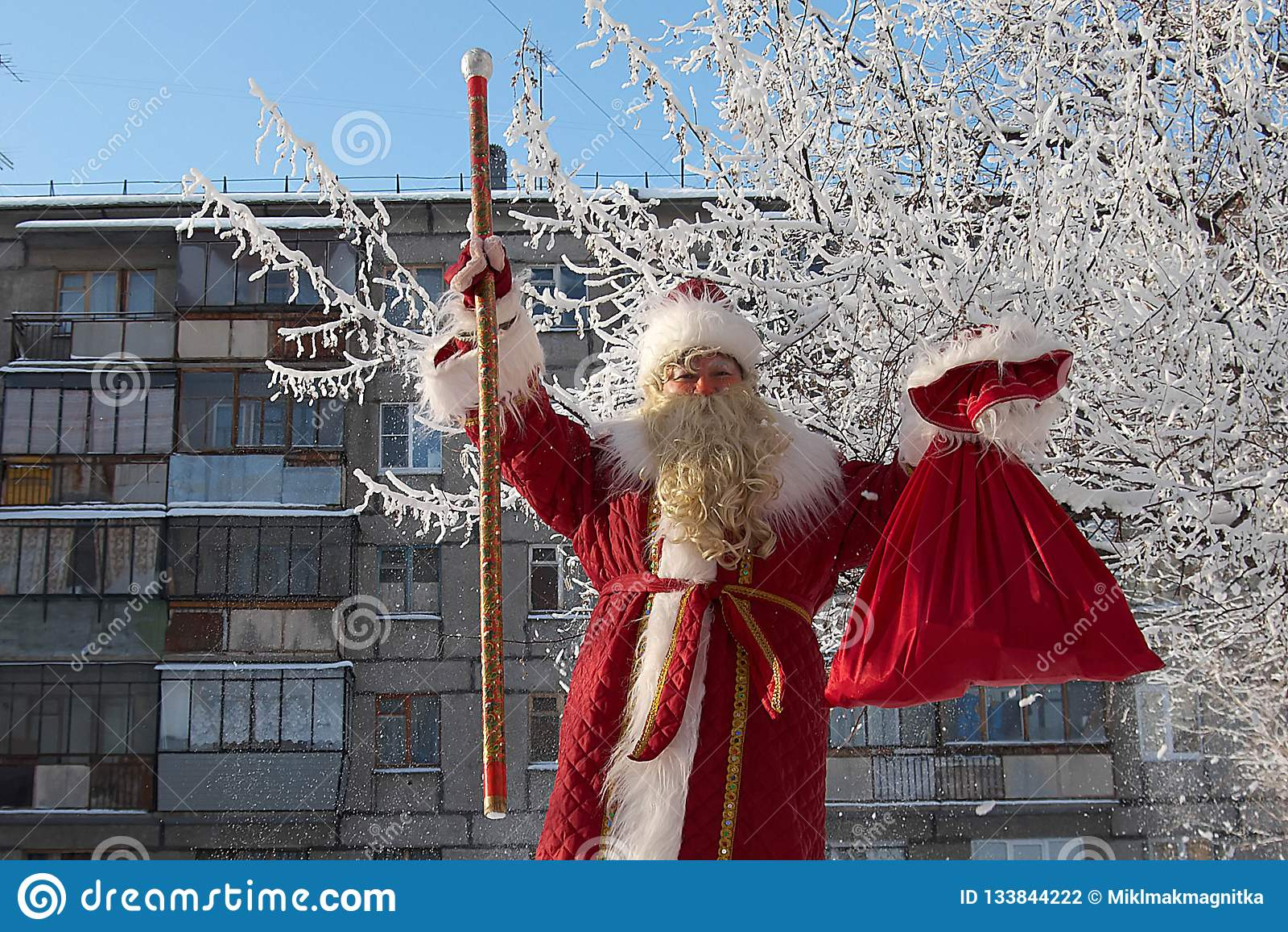 Russia, city of Magnitogorsk, - January, 3, 2012. Slavic Santa
