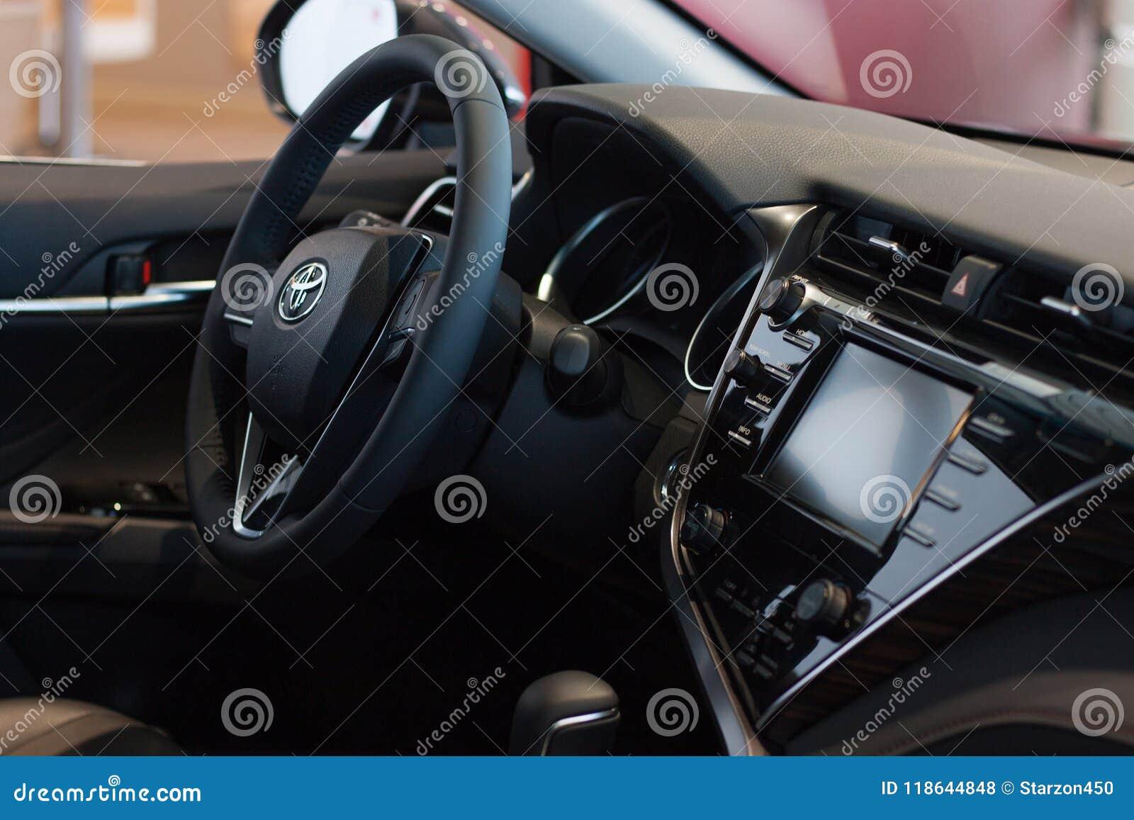 Toyota Camry 2018 Interior >> Russia Izhevsk April 21 2018 Showroom Toyota Interior