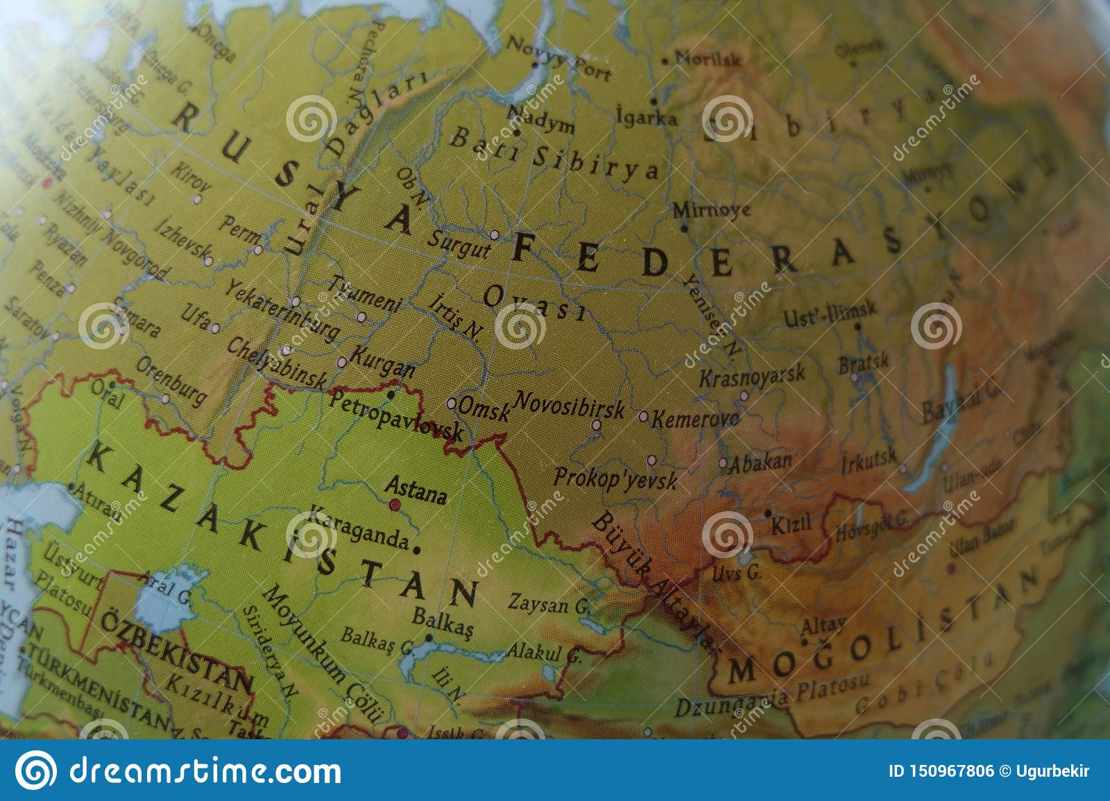Vintage Map Of Europe - Russia Stock Photo - Image of ...