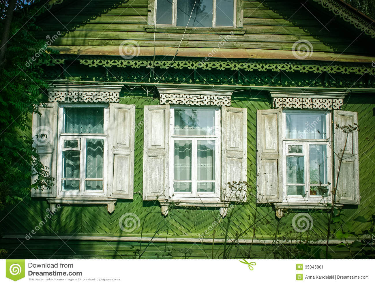 Country Style Windows : Russia stock image