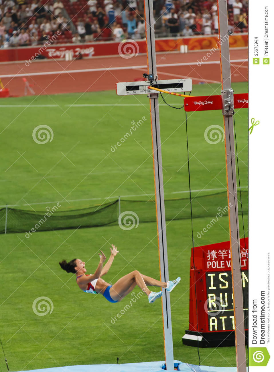 Russia's Isinbayeva Breaks World Record Editorial Stock ...