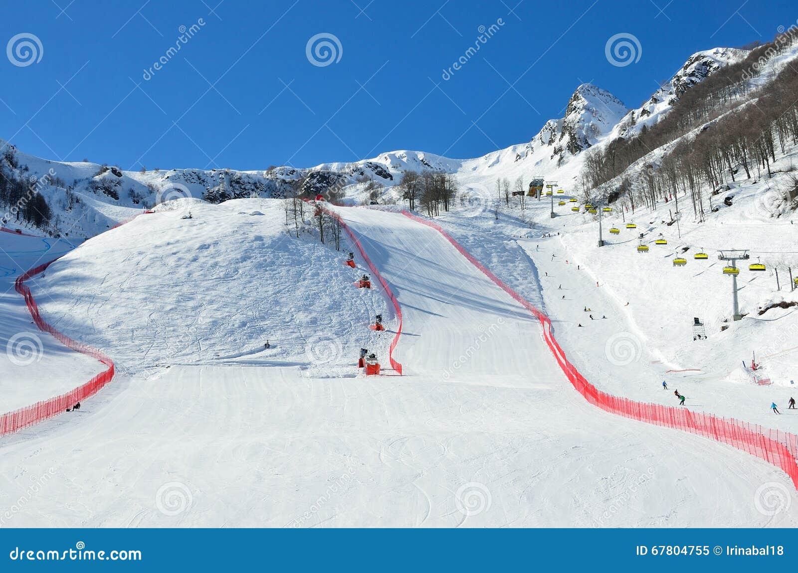Plans for the ski slopes in Sochi in 2019 21