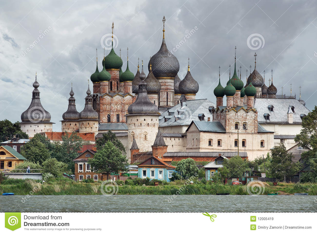 Russia. Town Of Rostov The Great. Rostov Kremlin Royalty Freerussia town