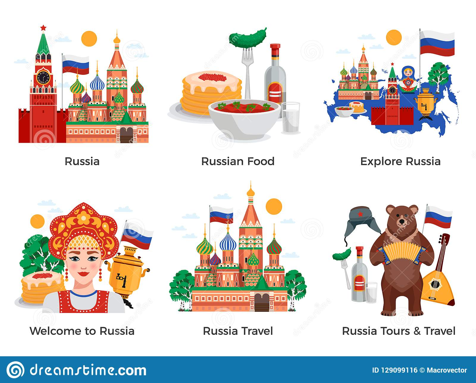 Russia Travel Compositions