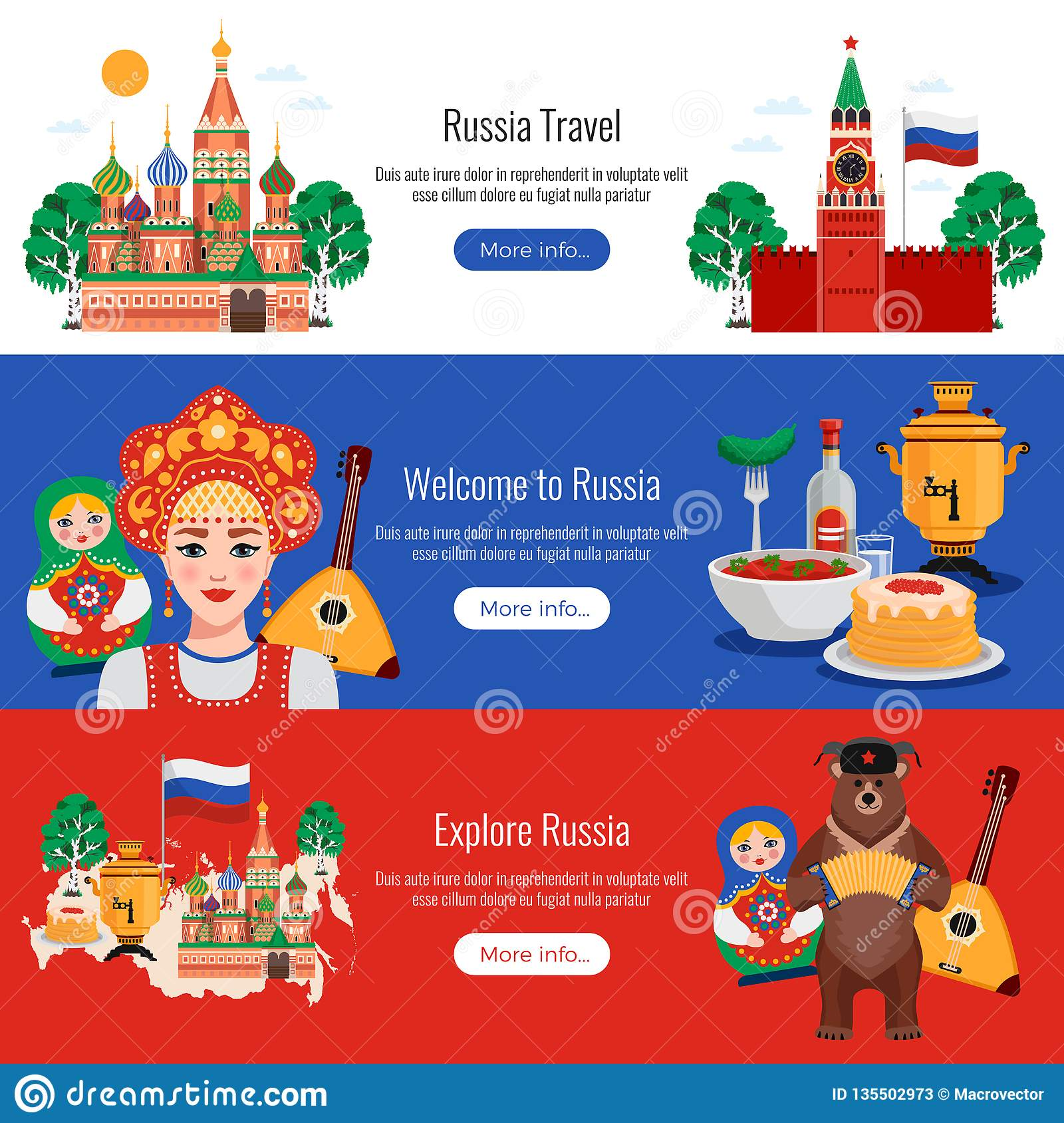 Russia Travel Banners