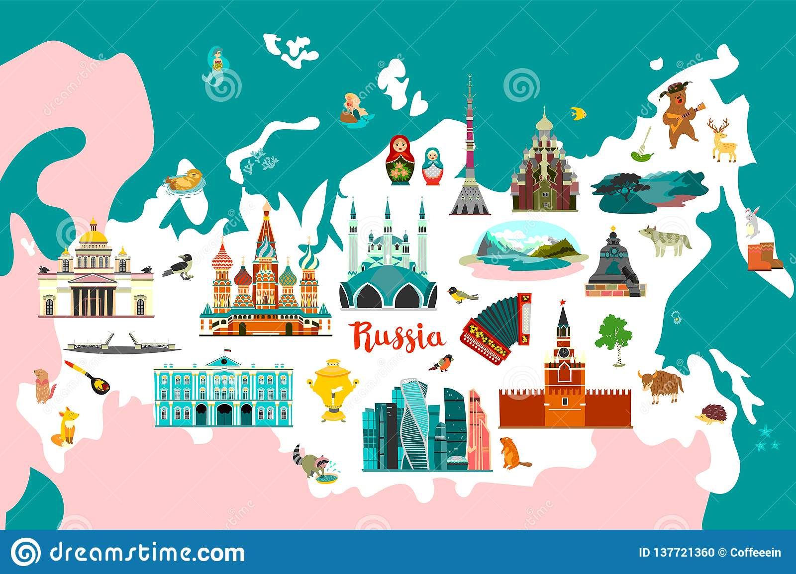 Russia Vector Atlas, Colorfull Illustration Stock Vector ... on flat united states map, flat eurasia map, flat great britain map, flat country map, flat europe map, flat us map, flat africa map, flat world maps,