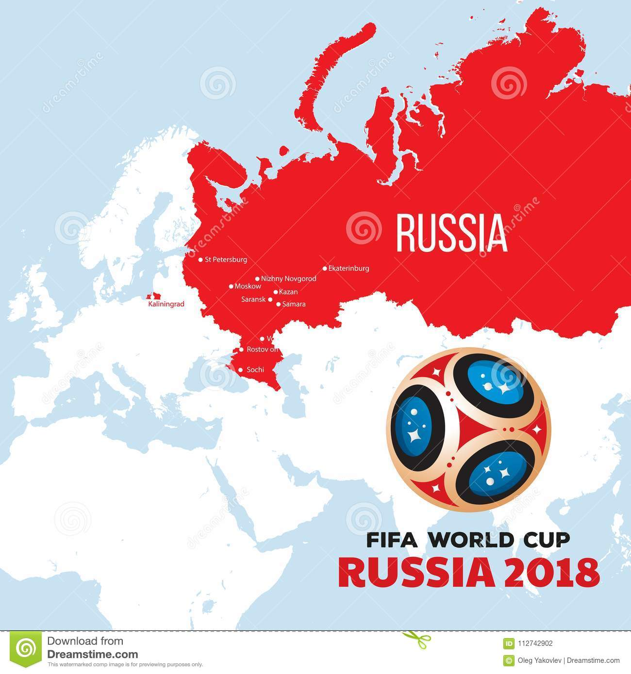 Russia world cup 2018 stock illustration. Illustration of ...