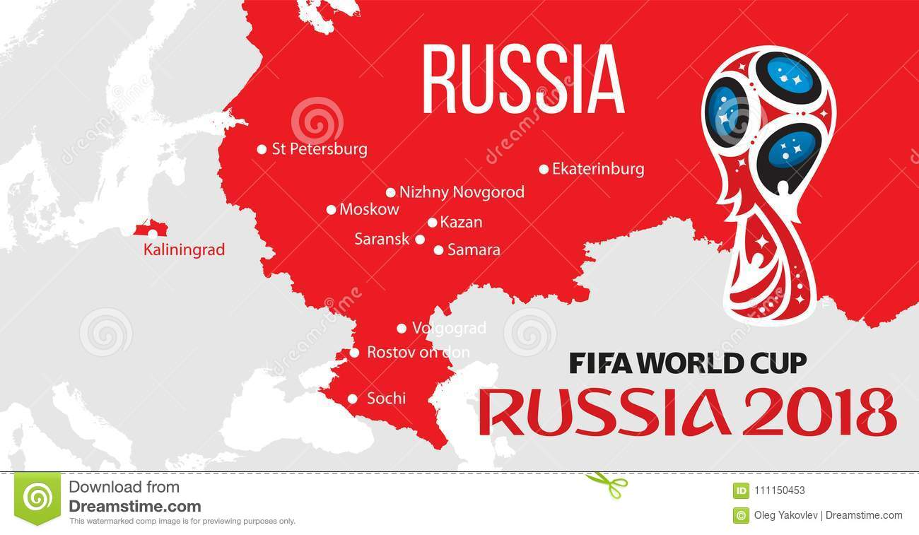 Russia world cup 2018 editorial stock photo. Illustration of ...