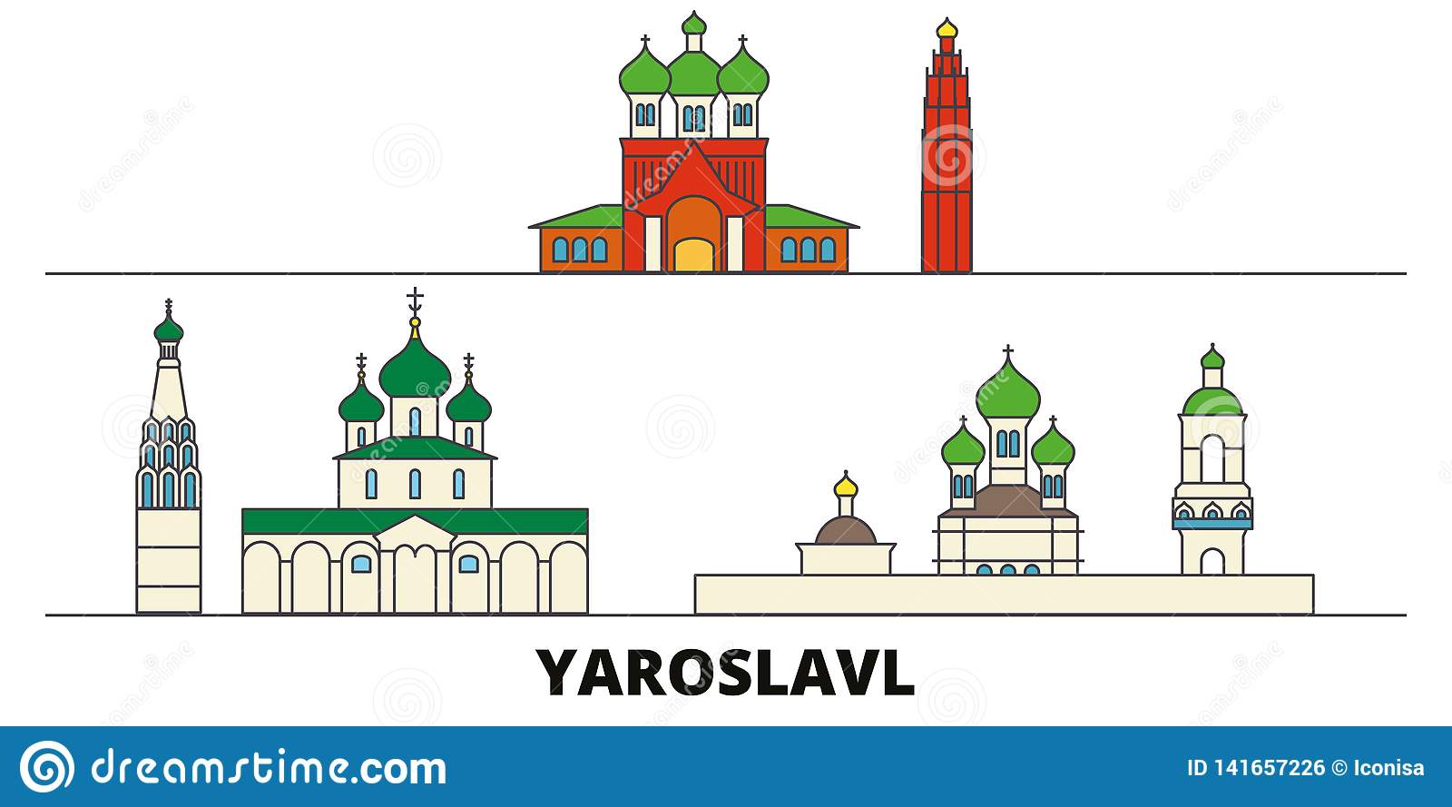Yaroslavl City Russia Flag Tie Clip