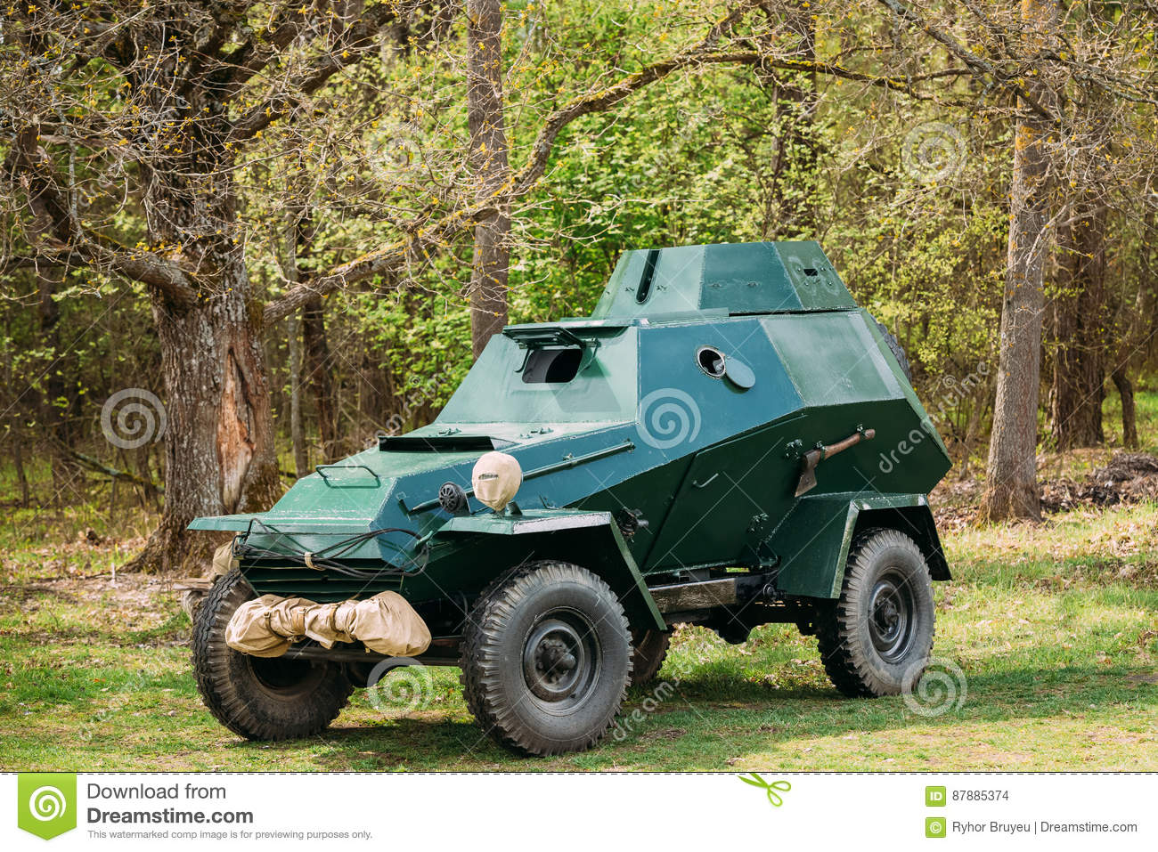 Russian Armoured Soviet Car Ba 64 Of World War Ii In Forest Stock Photo Image Of Soviet Weapon 87885374
