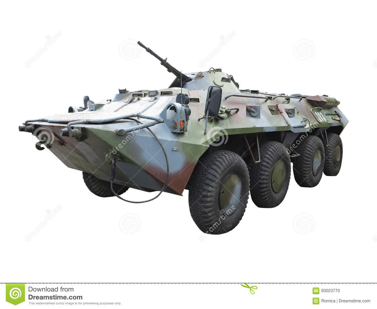 Russian Army BTR-82A wheeled armoured vehicle personnel carrier