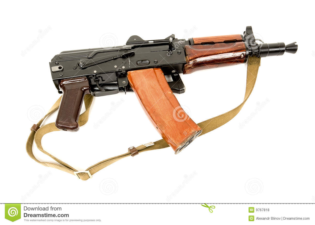 Russian Automatic Rifle Aks 74u Royalty Free Stock Photos