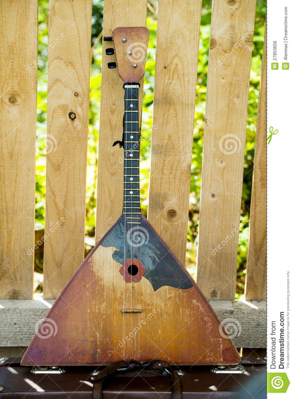 5x5FT Vinyl Photography Backdrop,Russian Balalaika Folkloric Photo Background for Photo Booth Studio Props