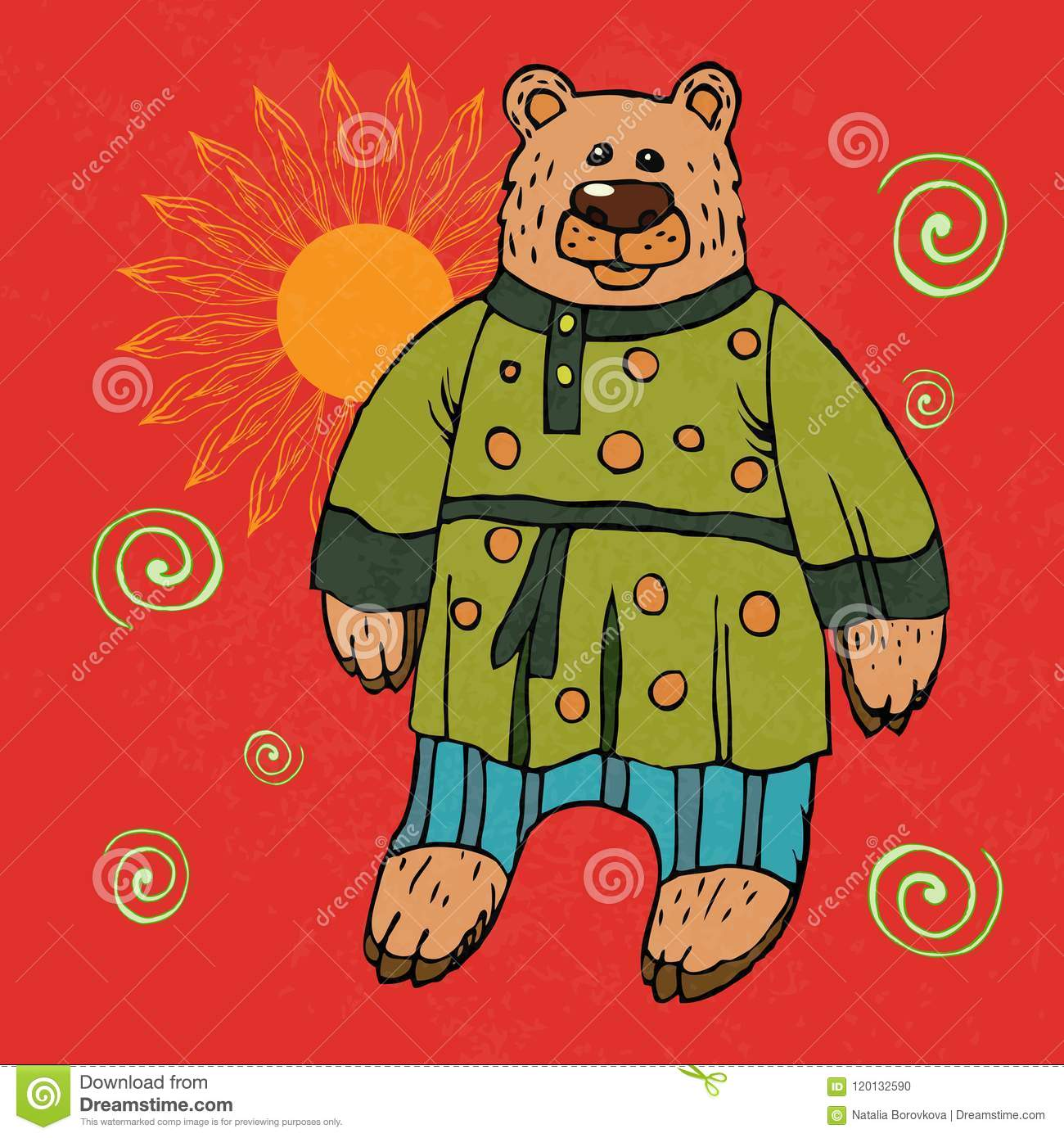 Russian Bear A National Character In A Suit A Symbol Of Russian