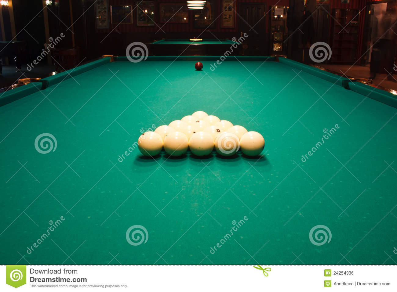 Russian Billiard Table With Balls Royalty Free Stock Image