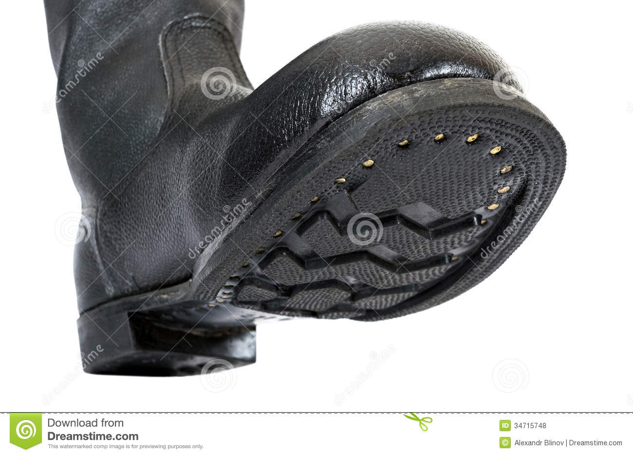 Russian Black Army Boots Stock Photo Image Of Single