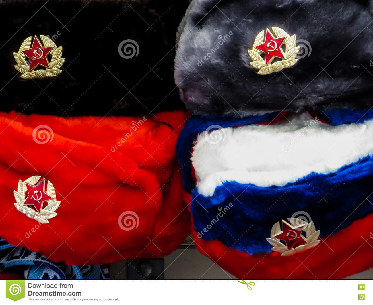 Soviet busby hats editorial stock image  Image of communist