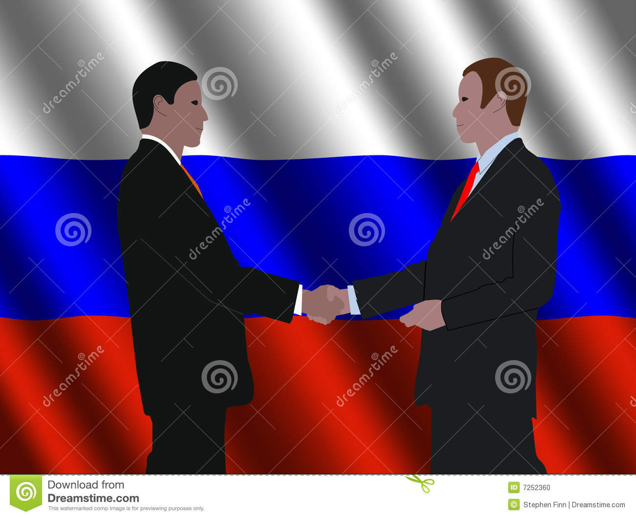 Russian Business Men Meeting Stock Photo Image 7252360