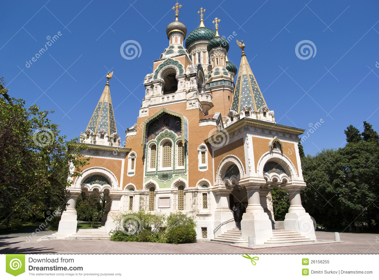 Russian Church In Nice Stock Image Image Of Building