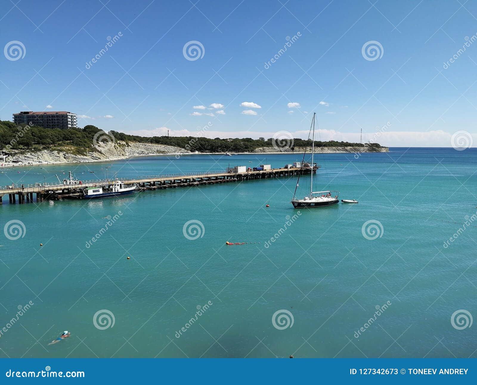 Russian coast Gelendzhik Black Sea Caucasus Krasnodar Region