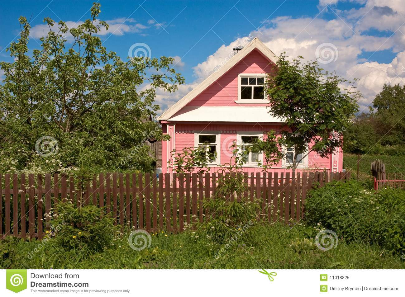 Russian Country House Royalty Free Stock Photo Image