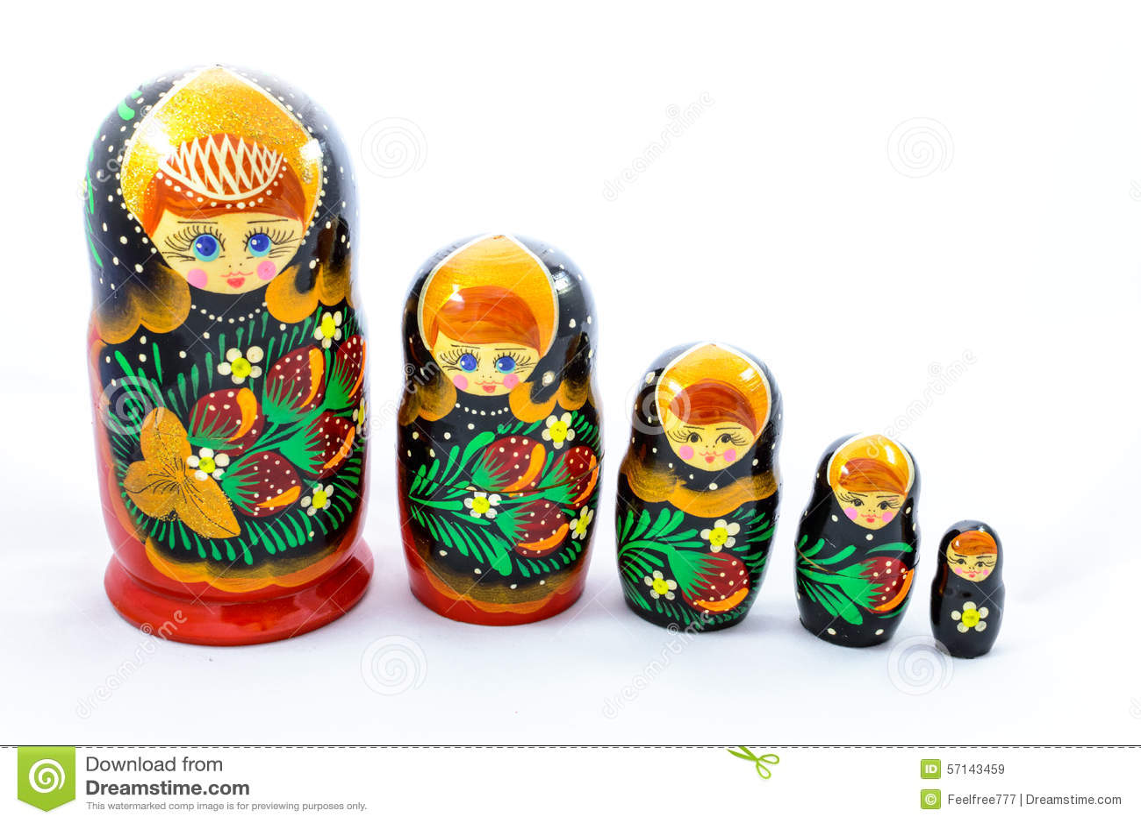 Russian Culture Symbols Matrioshka Stock Image Image Of Popular