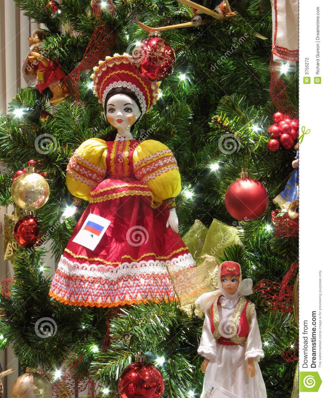 russian doll ornament stock photo image of holiday green 3755272