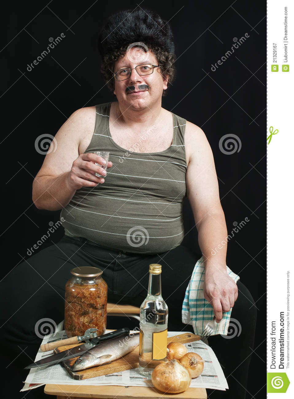 Russian Drinking Royalty Free Stock Photography Image