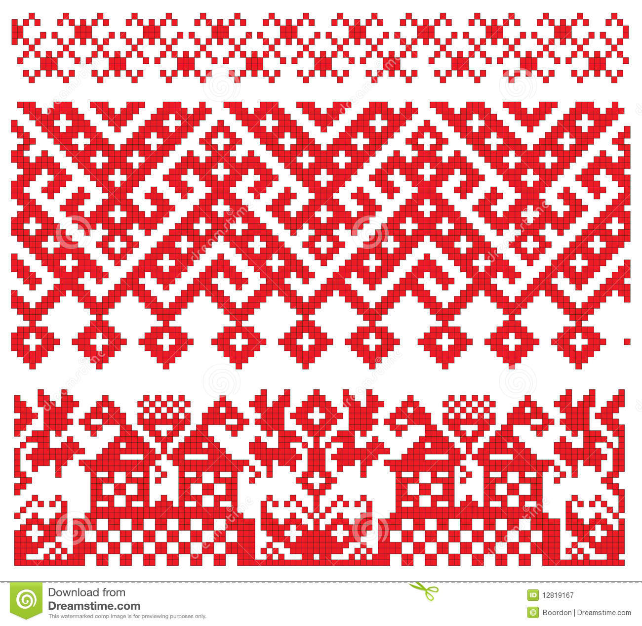 Russian Embroidery Old Pattern Royalty Free Stock