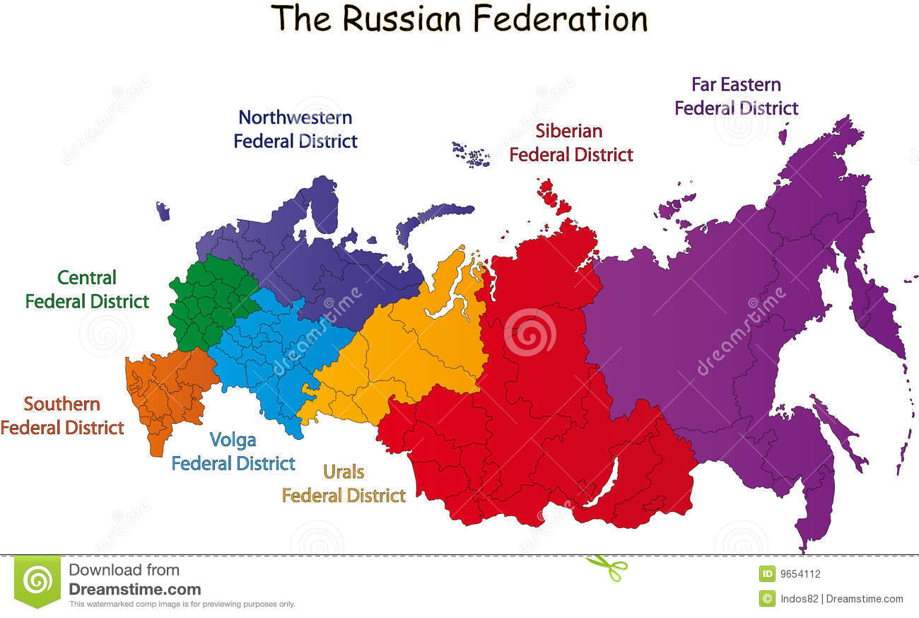 Russian Federation map stock vector Image of politics 9654112