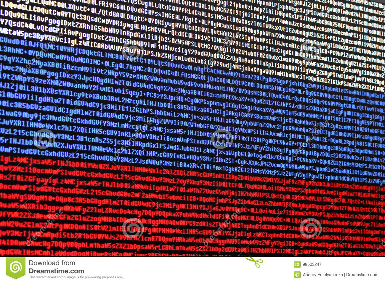 Russian Flag Consisting Of Computer Code Stock Image Image Of