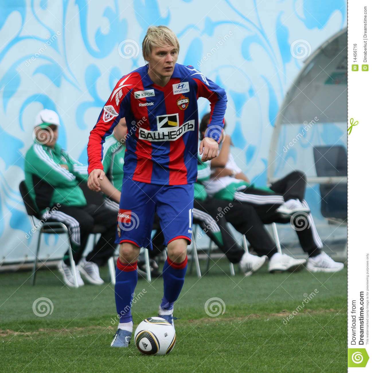 Cska s milos krasic in action during their team s russian football