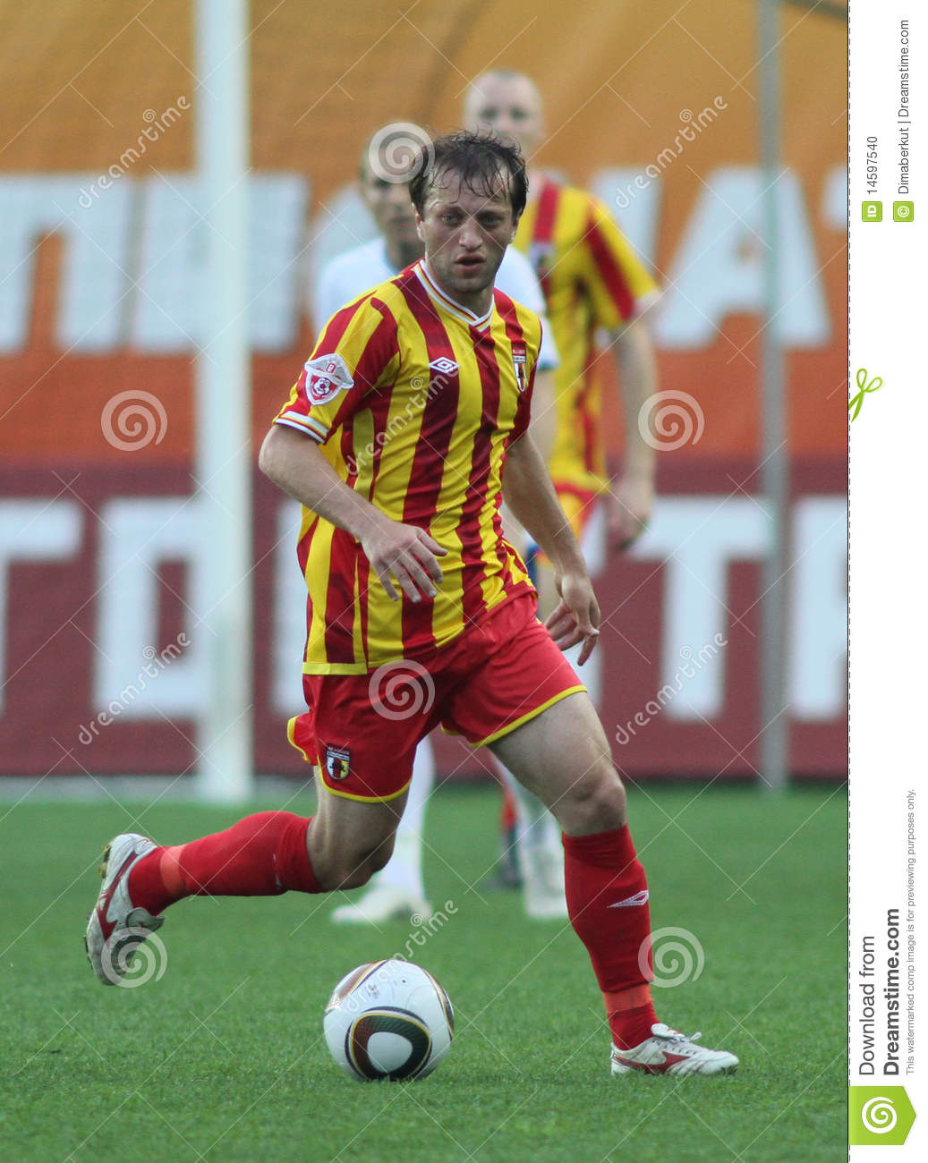 Oganyan in a game of the 11th round of russian football premier league