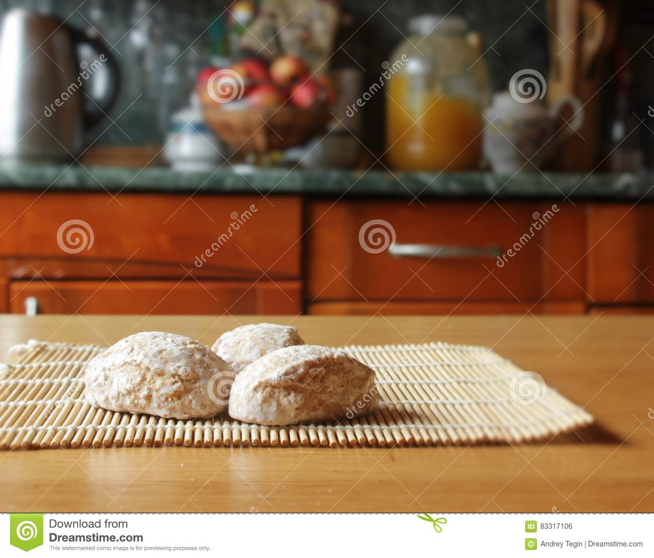Russian gingerbread stock photo  Image of filled, isolated
