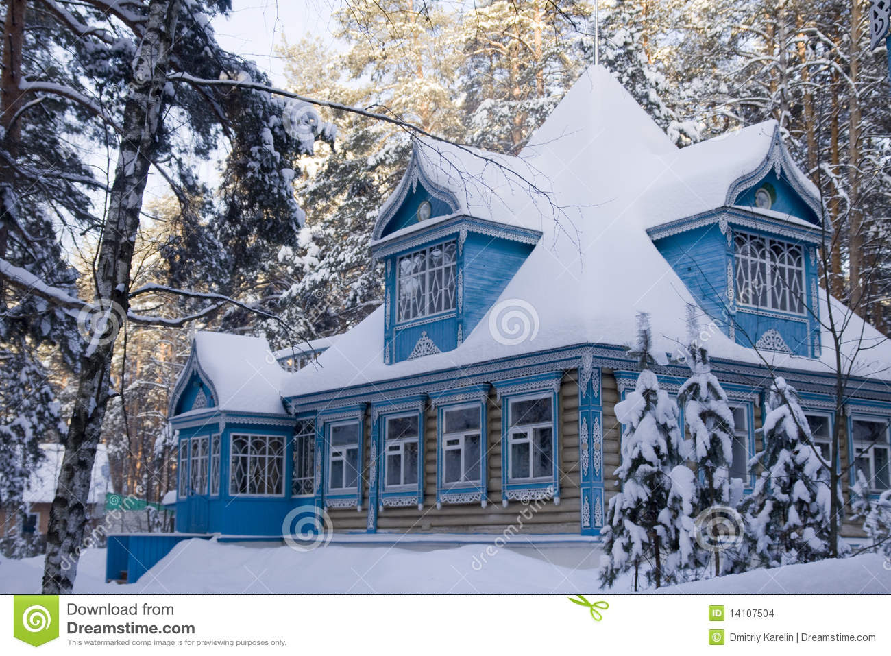 The Russian House In The Winter Stock Images - Image: 14107504 Central Park Winter Painting