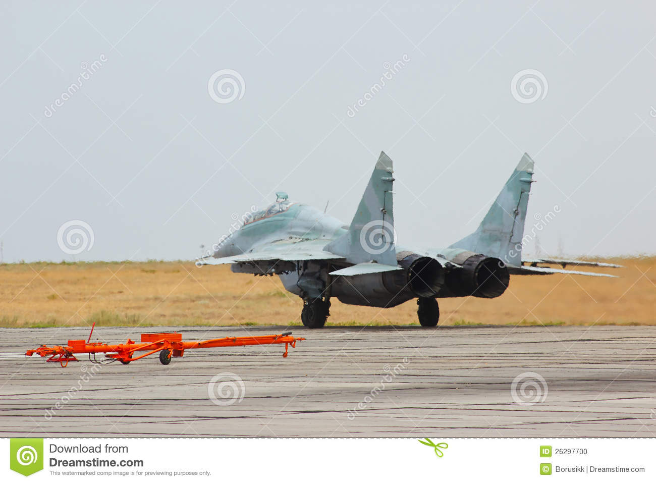 Soviet MiG fighter http://www.dreamstime.com/stock-photo-russian-jet-fighter-mig-29-air-base-image26297700